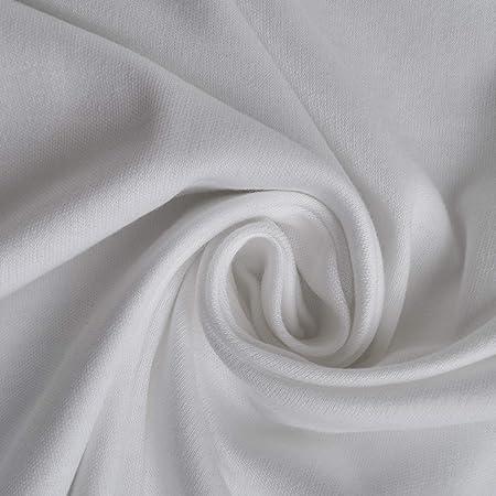 aktivstoffe Algodón Jersey – Tela elástica - Blanco - elástico - 98% algodón - Vendido por Metro (1m): Amazon.es: Hogar