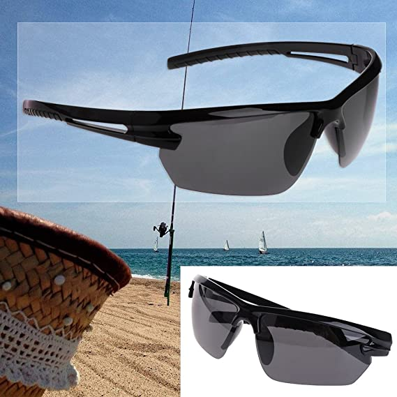 Logres - 1 par de gafas de sol polarizadas para deportes al aire libre con marco medio UV400 (#007): Amazon.es: Bricolaje y herramientas