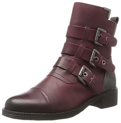 411321311015, Bottes Femme, Rouge (Dark Red/Dark Grey), 37 EUBugatti