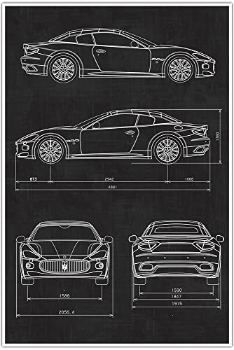 Maserati, Car, Blueprint Patent, Patent Poster, Blueprint Poster, Art, Gift