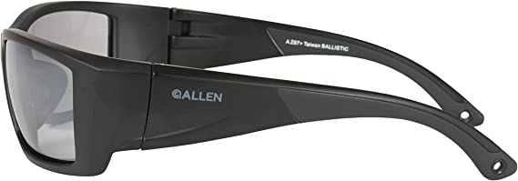 Allen 22762 Black Meta Ballistic Anti-Fog Smoke Mirror Lens Shooting Glasses