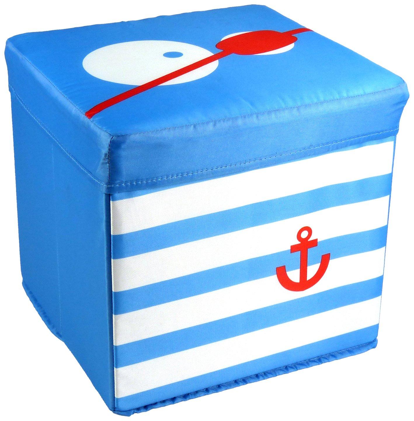 My Note Deco 065868 - Pouf contenitore Big-Eye Pirata, colore: Blu