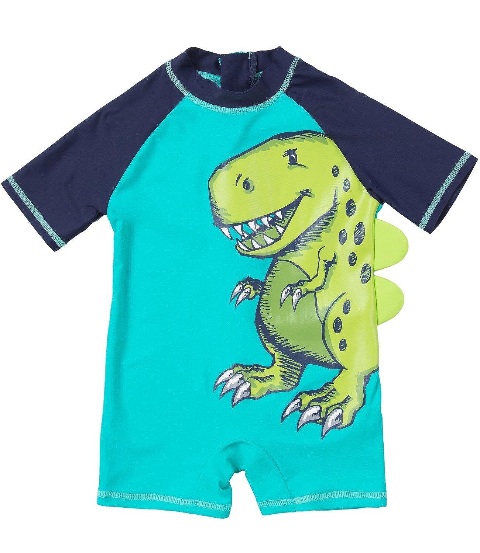 f6f37c215a ... UPF 50+ -Sun Protective Sunsuit.  10.00. Sociala Toddler Little Boy s  Long Sleeve Rash Guard Baby Boy One Piece Swimsuit