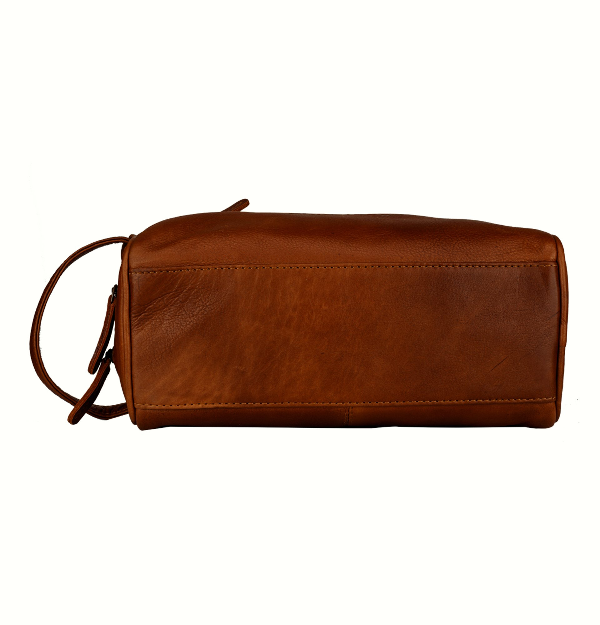 Finelaer Men Brown Leather Toiletry Travel Dopp Bag by FINELAER (Image #5)