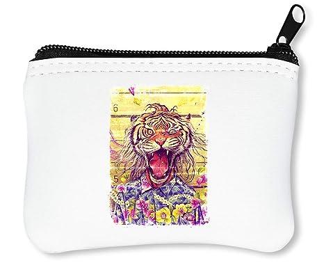Cute Angry Tiger Billetera con Cremallera Monedero Caratera ...
