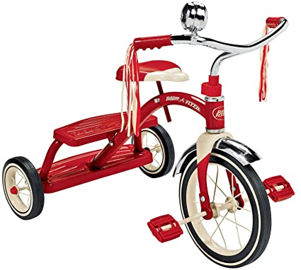 Radio Flyer Bike >> Amazon Com Radio Flyer Classic Red Dual Deck Tricycle Toys Games
