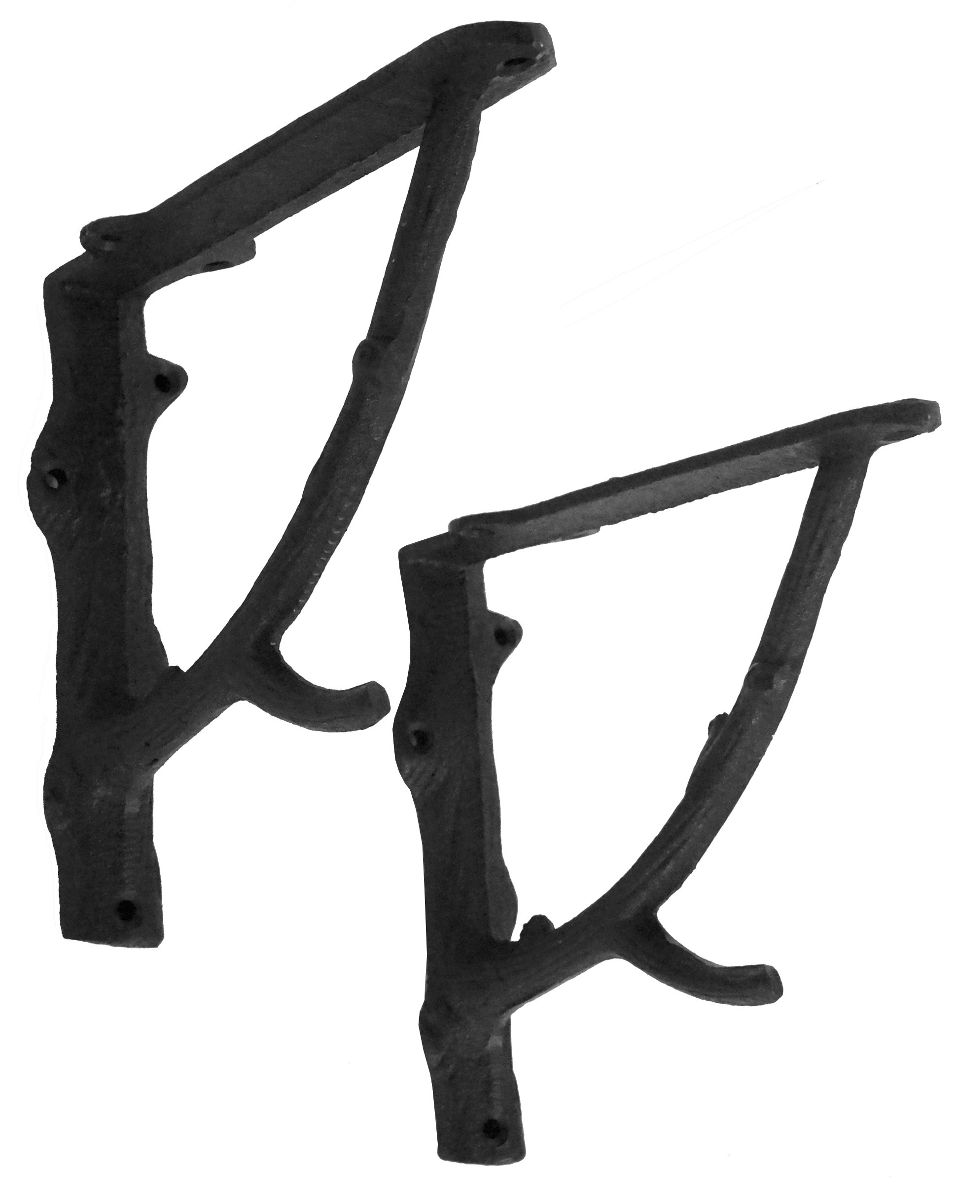 NACH js-90-078 Branch Wall Shelf Bracket 7''. Pack of 2 (7x2x7.3 inches)