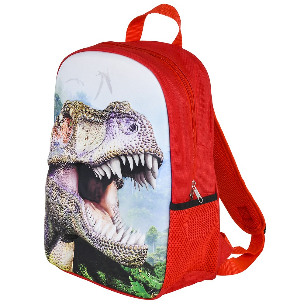 3D Jurassic Dinosaur T-Rex Backpack, Lunchbox, and Water Bottle Back to School by RIN (Image #5)