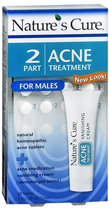 Natures Cure 2 Part Acne Treatment for Males 1 Each (Pack of 3) Rosebud Perfume Co. - Smiths Lip Balm Tube Rose & Mandarin - 0.5 oz (pack of 2)