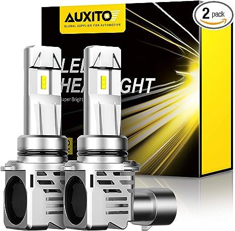 6500K Xenon White AUXITO 9006//HB4 Headlight LED Bulb Conversion Kit Pack of 2 9006 LED Headlight Bulbs Mini Sized 80W 16,000LM Per Pair CanBus Ready