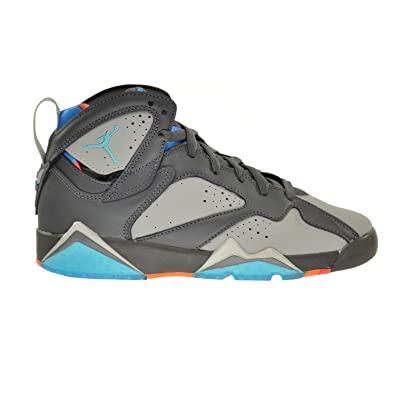 0dcd625abd86b5 Image Unavailable. Image not available for. Color  Jordan Air 7 Retro  Barcelona Days BG Big Kids Shoes Dark Grey Turquoise-Wolf