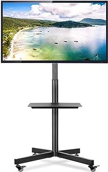 RFIVER Móvil Soporte TV de Suelo para Television de 32 a 60 Pulgadas con Ruedas Inclinable Altura Ajustable MAX Vesa 600x400mm MT2001: Amazon.es: Electrónica