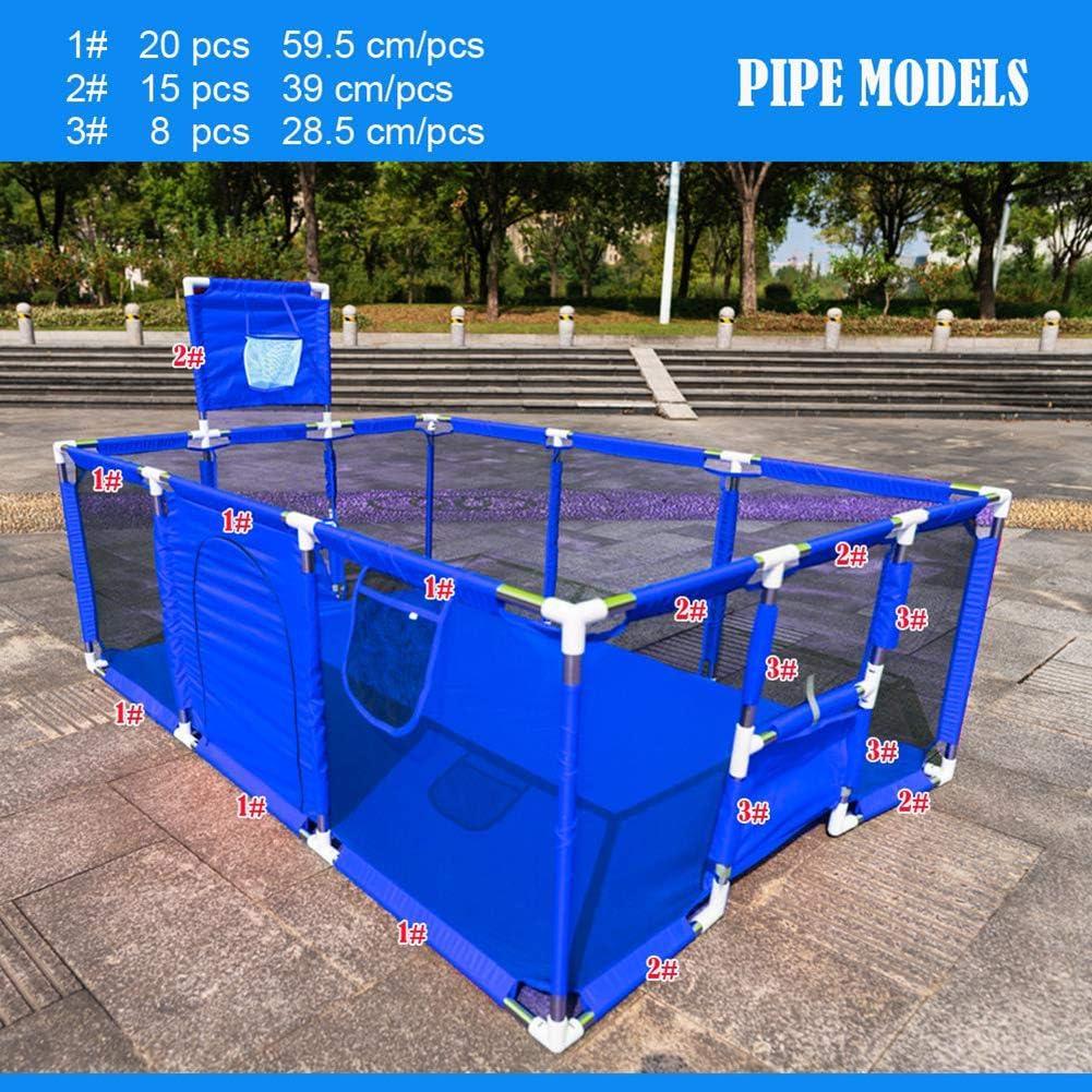 QFXFL Parc B/éb/é Cl/ôture De S/écurit/é pour Enfants Portable Mesh avec Cour Jouer Robuste Bases Corral B/éb/é W12