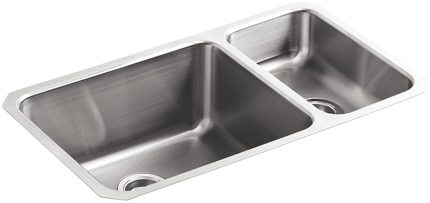 p kitchen steel verse stainless hole k sink kohler bowl double sinks in drop na