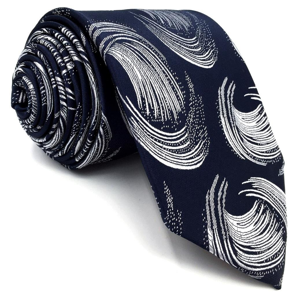 S/&W SHLAX/&WING Classic Mens Necktie Pocket Square Set Paisley Tie