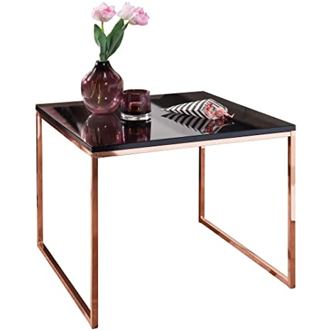 Finebuy Coffee Table Copperblack With Wood Top 60 X 50 X 60