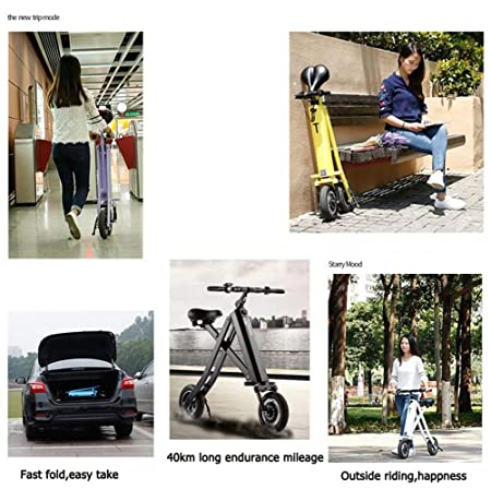 Amazon.com: TX Mini Patinete eléctrico plegable 2 ruedas ...
