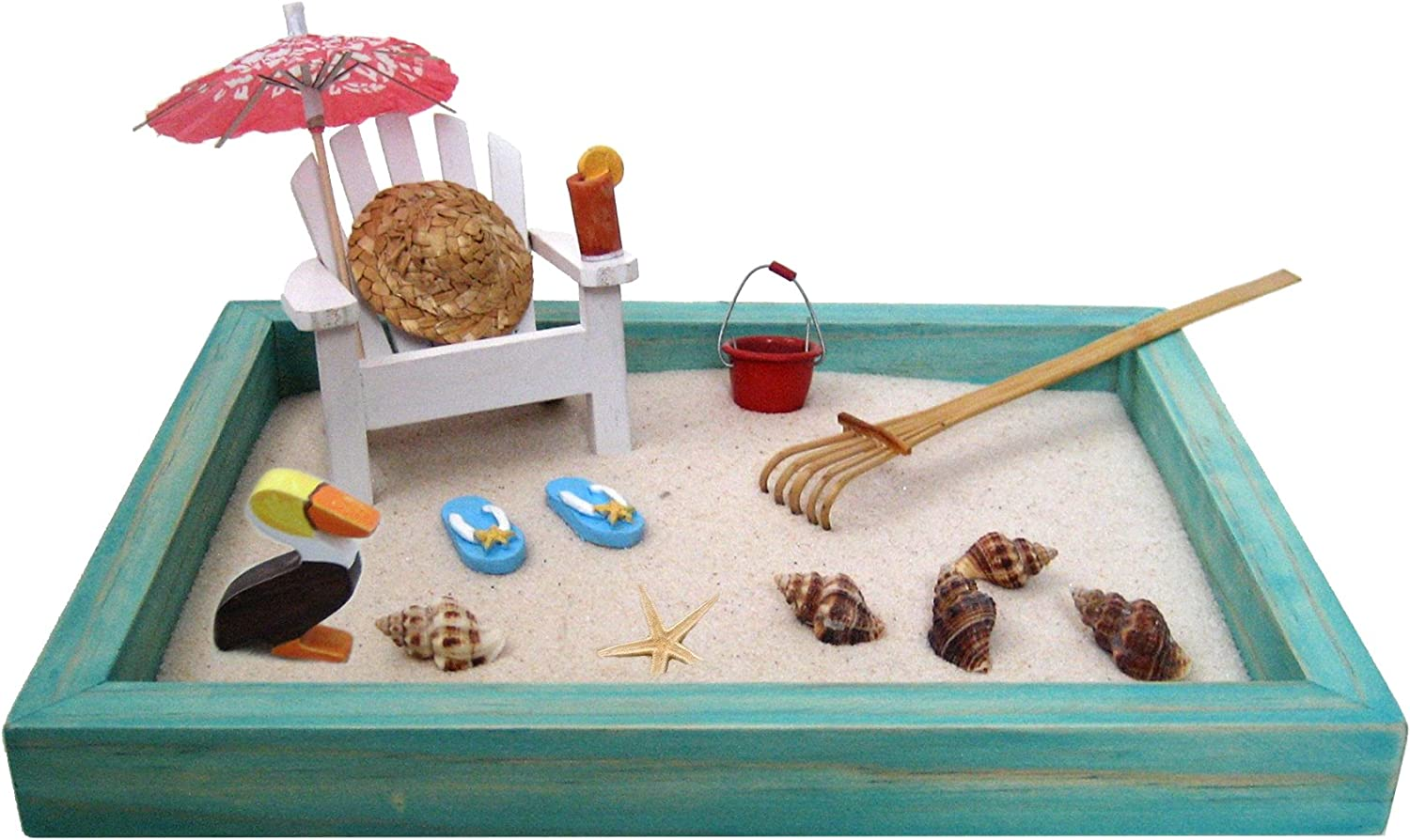 10 ways to go tropical for a relaxing and trendy home office.htm amazon com beach zen garden  a day at the beach  mini desktop  amazon com beach zen garden  a day at