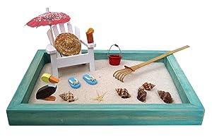 Beach Zen Garden, A Day at The Beach, Mini Desktop Sandbox for Meditation and Relaxation