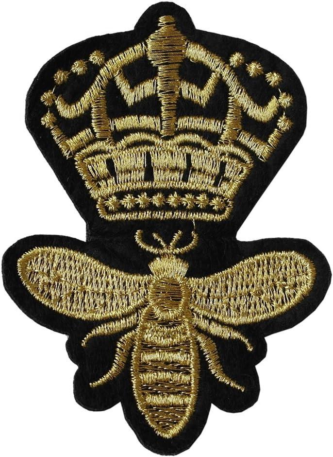 Parche de hierro con bordado de abeja reina: Amazon.es: Hogar