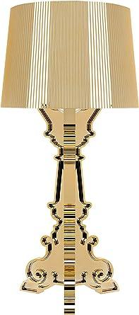 Kartell Bourgie Lampada Da Tavolo Dimmerabile E14 Oro Amazon It Illuminazione