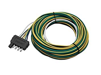 Wesbar 702275 5-Way Flat 25' Trailer End Wire Harness on
