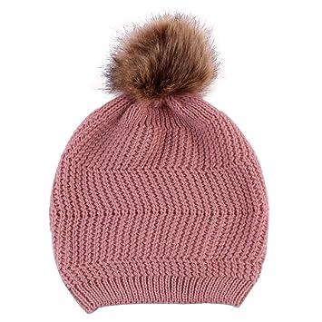 d6fd1cd5f87 Amazon.com  Women s Pompom Knit Hat