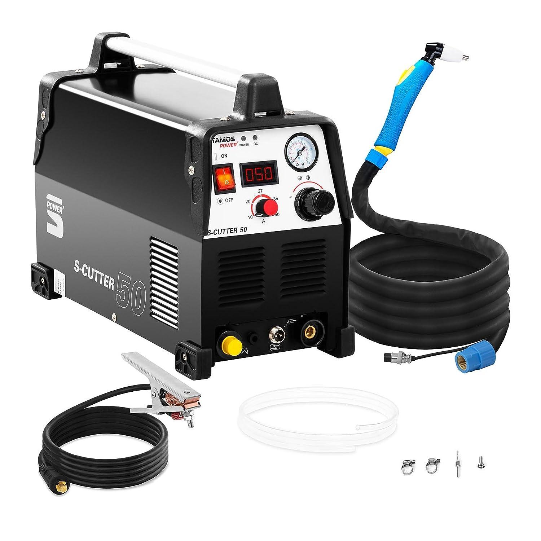 Stamos Power Cortadora De Plasma Máquina Para Corte S-CUTTER 50 (Pantalla LED, Profundidad de corte: 12 mm, Corriente de corte: 50 A)