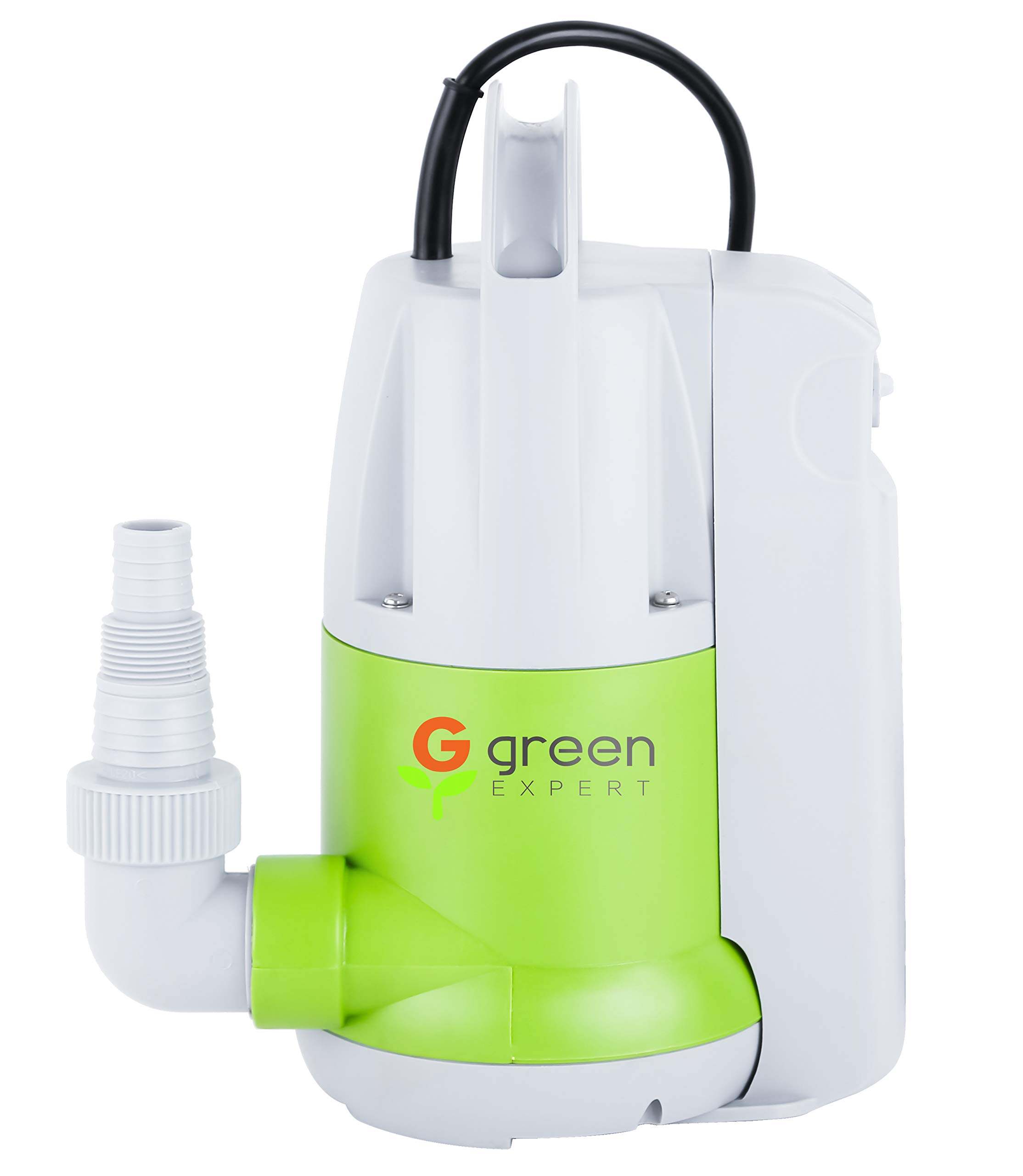 Green Expert 203623 1/3HP Thermoplastic Portable Electric Water Removal Pump with Unique Switchable Built-in Switch Auto/Manual Modes for Multipurpose Water Transfer Basement&Ponding, 25 feet Cord by G green EXPERT