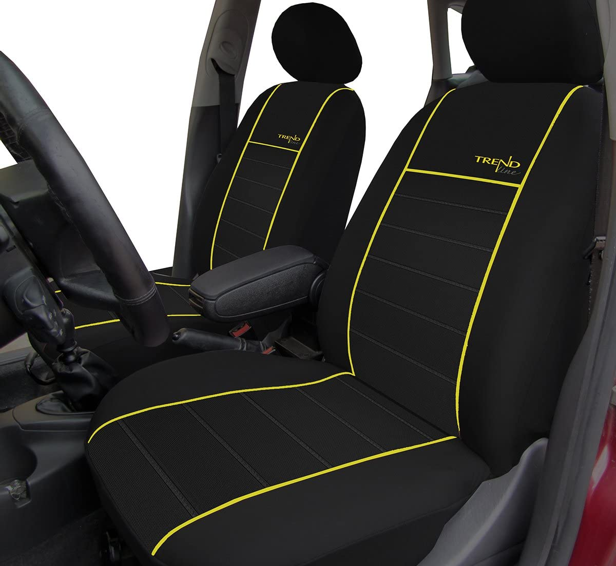 Autositzbezüge Schonbezüge Trend Line Passend Für Dacia Duster Universal Stoffsitzbezug Zum Sonderpreis In Diesem Angebot Gelb Auto