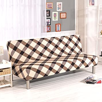 folding armless slipcover lightweight com furniture color bed full amazon futon inch x elastic sofa protector solid dp slipcovers cover difen