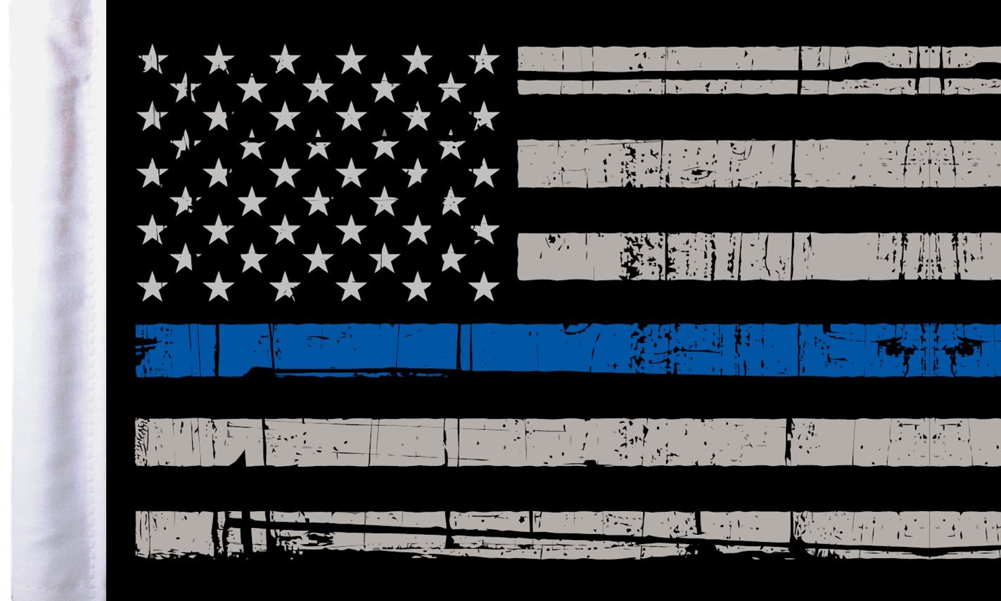Pro Pad Sleeved 6 by 9-inch Grunge USA Thin Blue Line Motorcycle Flag
