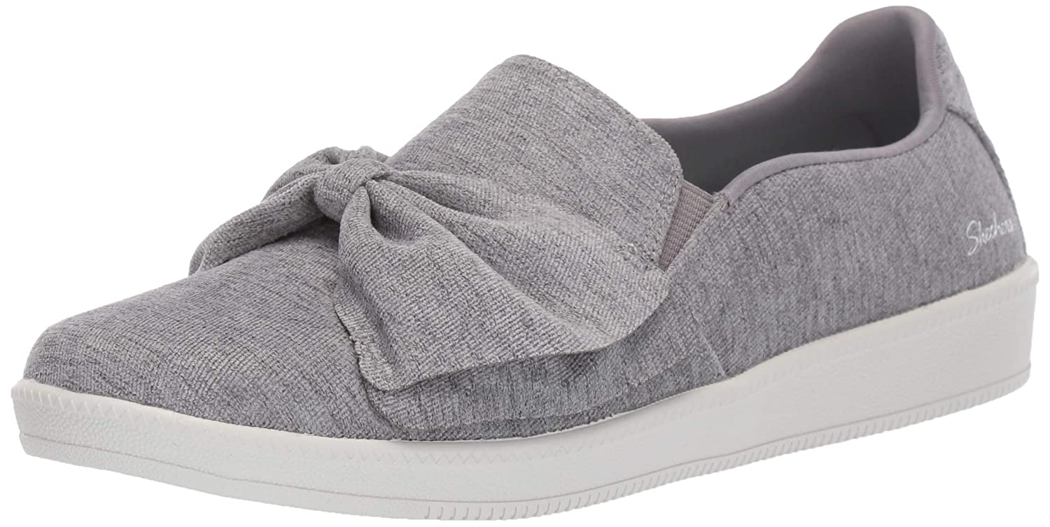Grey Skechers Womens Madison Ave - My Town Fashion Sneakers