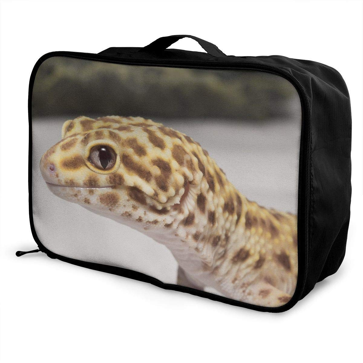 Portable Luggage Duffel Bag Leopard Gecko Travel Bags Carry-on In Trolley Handle