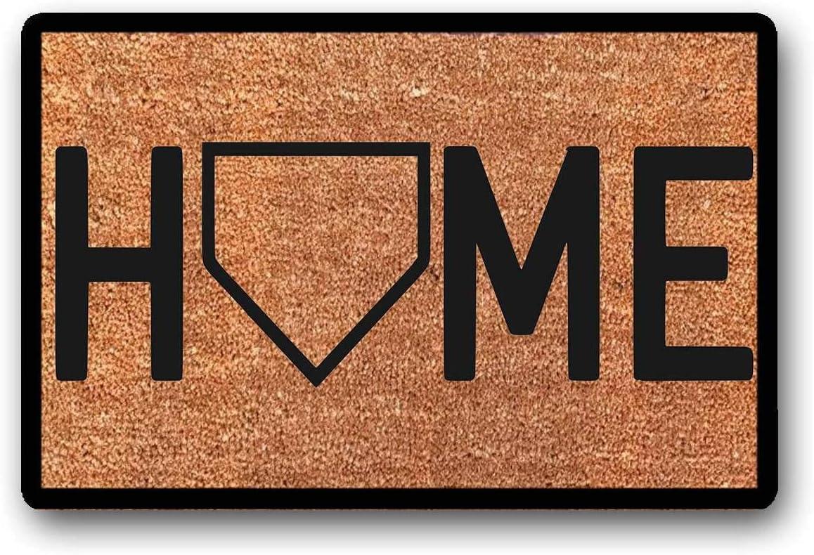 """WYFKYMXX Home Plate Home Doormat - Baseball - Door Mat Housewarming Gift Entrance Doormat Home Decoration Doormat 23.6"""" x 15.7"""""""