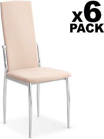 HomeSouth - Pack 6 sillas de Comedor, salón o Cocina, Silla ...