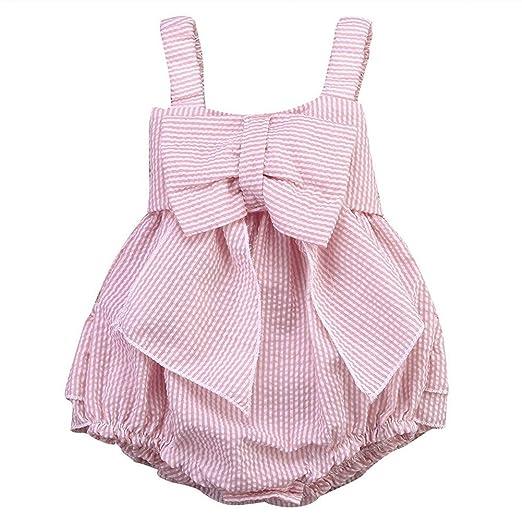 6c35692eda2a Amazon.com  Weixinbuy Baby Girls Bowknot Seersucker Bubble Straps ...