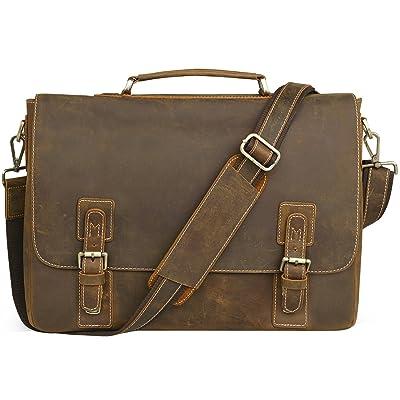 hot sale 2017 NEW ARRIVAL Men's Genuine Leather Briefcase Messenger Bag Lawyer Laptop Bag,MB001A