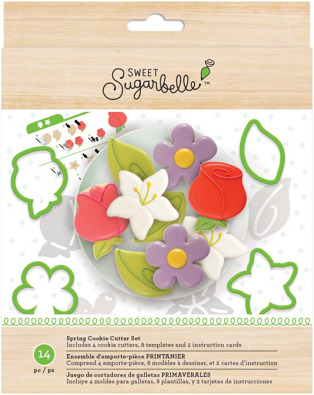 Amazon.com: American Crafts Sweet Sugarbelle 14 Piece Spring Cookie Cutter Set: Arts, Crafts & Sewing