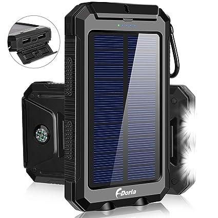 Amazon.com: F.DORLA Cargador Solar 20000mAh Banco de ...