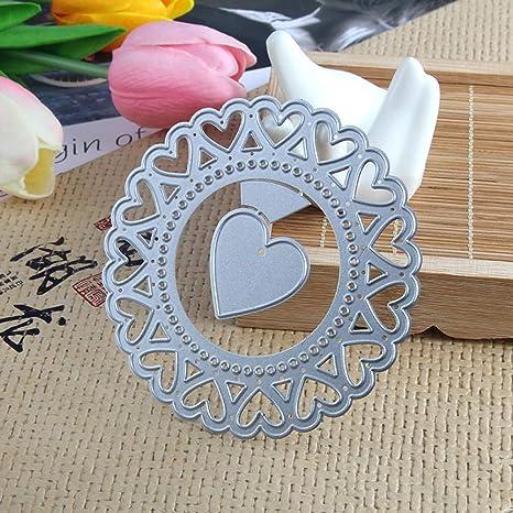 Plantillas de metal con forma de corazón de melocotón para hacer tarjetas, molde de plantilla de metal para manualidades, álbumes de recortes, tarjetas de papel, tarjetas de cumpleaños, decoración de festivales: Amazon.es:
