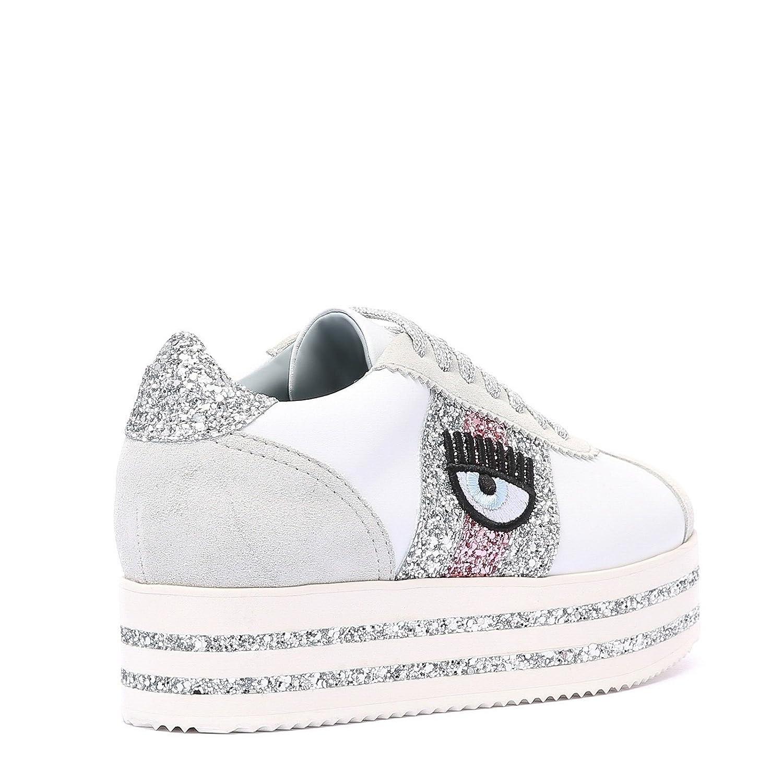 fce828e02c30b Chiara Ferragni Sneakers HS White Fuxia CF2100-A Nuova Collezione A I 2018-19   Amazon.it  Scarpe e borse