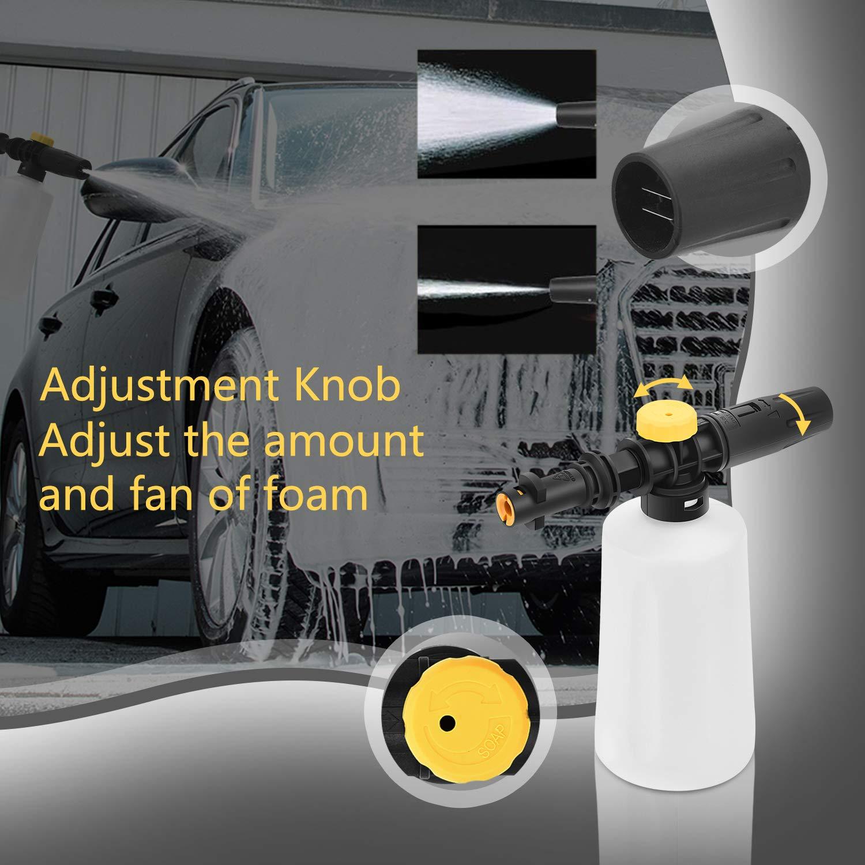 MoPei Foam Cannon for Karcher K Series Adjustable Nozzle Compatible with Karcher/'s K2//K3//K4//K5//K6//K7 Pressure Washer