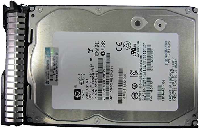 HP 600GB 15K RPM 6G 16 MB Cache 3.5-Inch Internal Bare or OEM Drive 653952-001