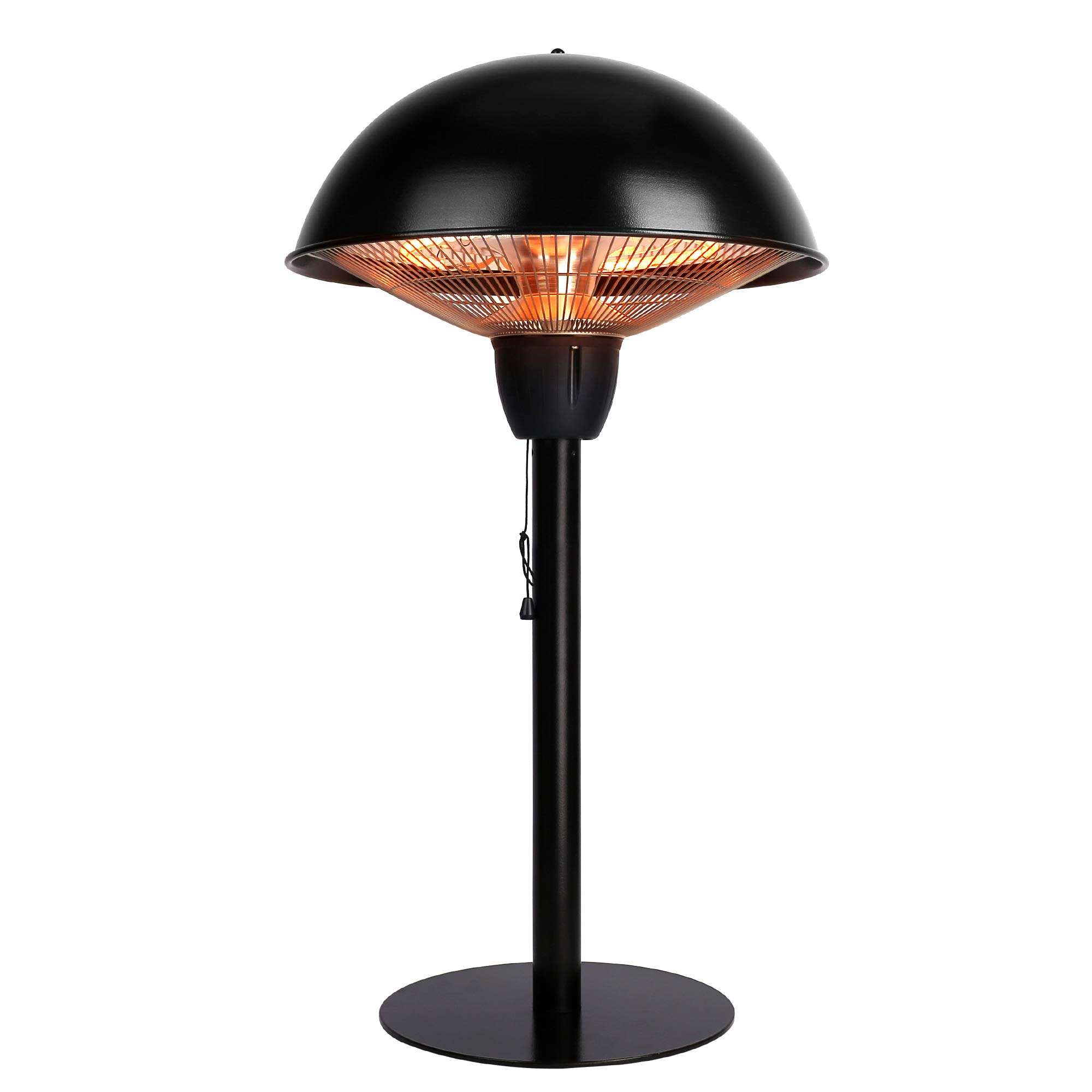Star Patio Electric Patio Heater, Tabletop Heater, Infrared Heaters, Electric Outdoor Heater, Outdoor Space Heater, Portable Heater with Hammered Bronze Finished, 1500W, STP1566-BT by Star Patio