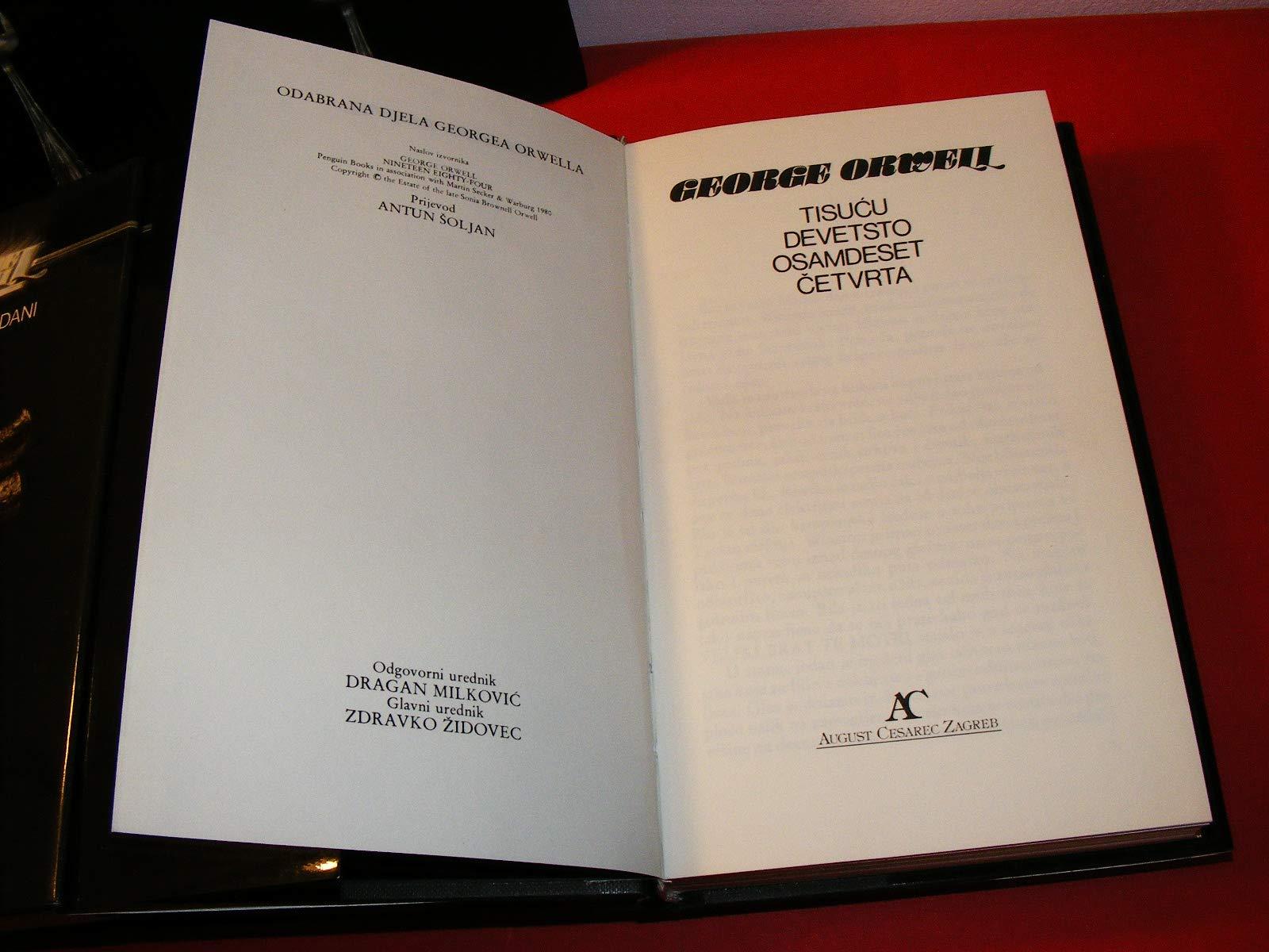 Odabrana Djela Georgea Orwella George Orwell Amazon Com Books