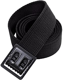 Amazon.com  Army Universe Black Military Web Belt With Black Open ... 32dafc1bdd9