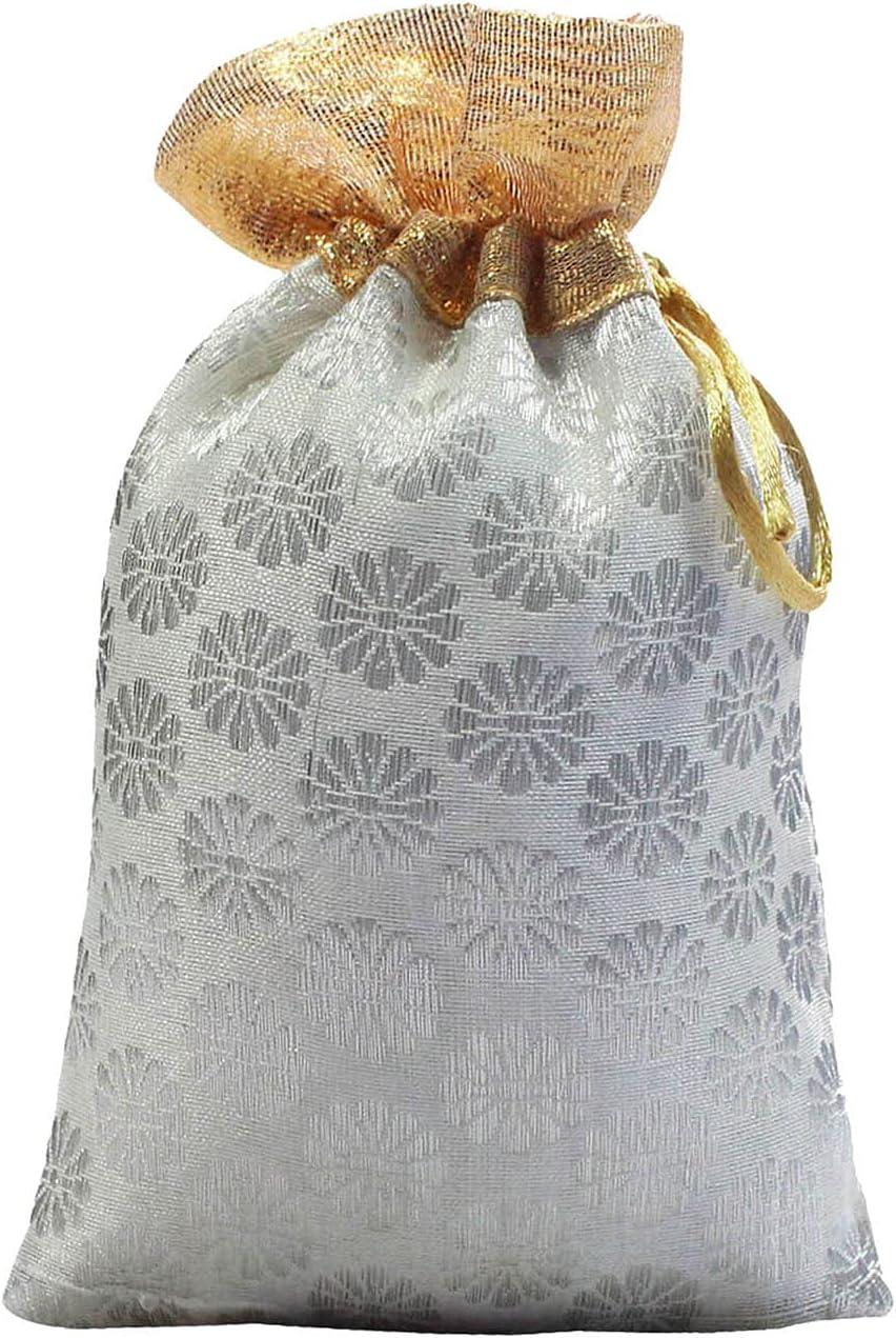 25 Gift Cheap bargain Pouch Favors Potli Art OFFicial site Bags Wedding Drawstring Part Silk