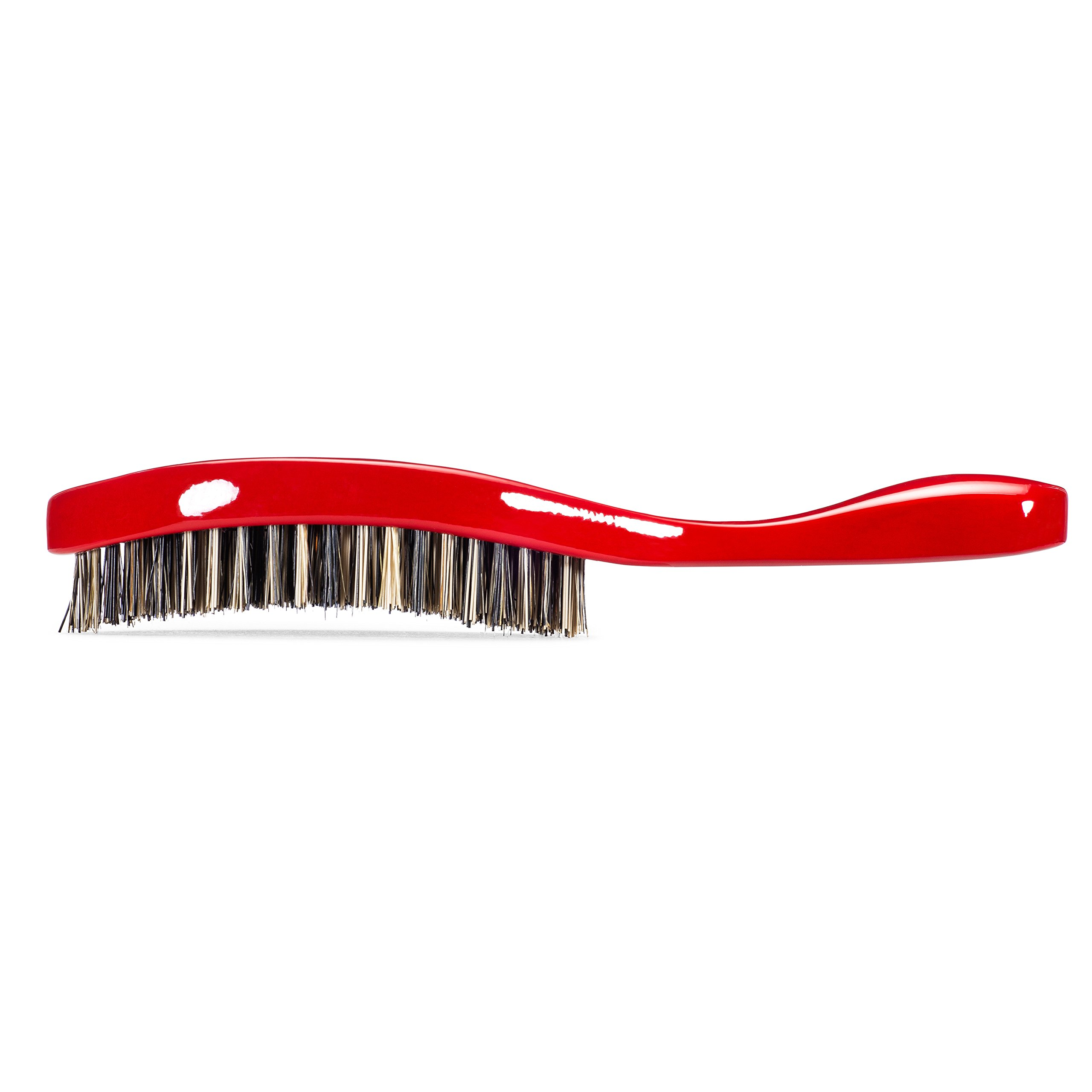 Torino Pro Wave Brush #470 by Brush King - Extra Hard Curve Wave Brush with Reinforced Boar & Nylon Bristles - Great for Wolfing - Curved 360 Waves Brush by Torino Pro (Image #3)