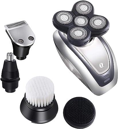 Maquinilla de afeitar eléctrica para hombre, afeitadora eléctrica ...